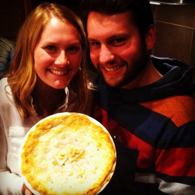 A housewarming pie.
